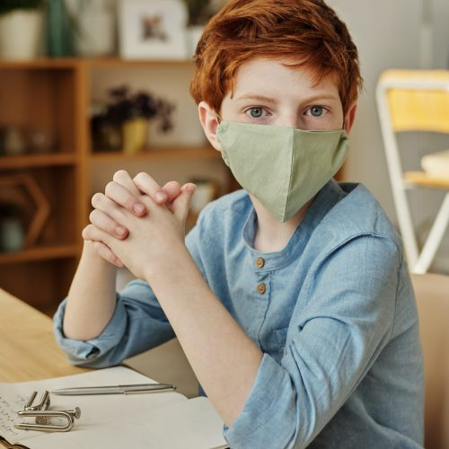 boy-in-blue-long-sleeve-shirt-wearing-face-mask-4145249